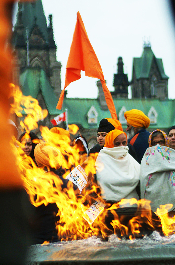 Sikh Protest of Death Penalty in India, Parliament Hill.