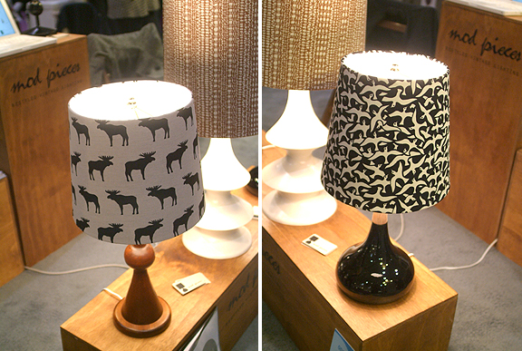 Upcycled lamps from Mod Pieces at the One of a Kind Show Toronto.