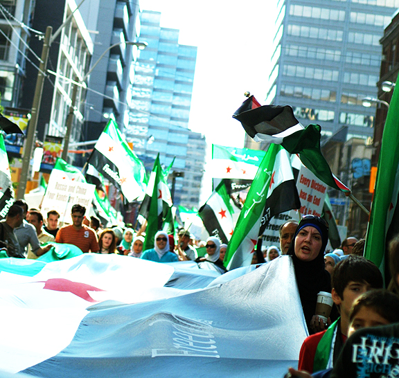 Freedom for Syria Protest in Toronto.