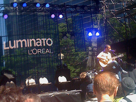 Nitin Sawhney performing 'Prophecy' on the last day of Luminato 2011