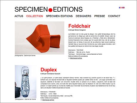French design company Specimen.