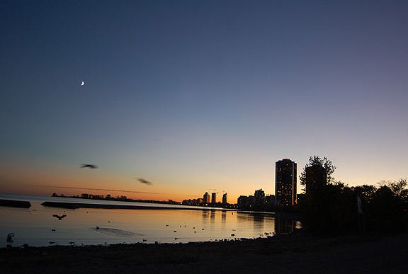 Sunset on the Lakeshore, Toronto, October, 2010.