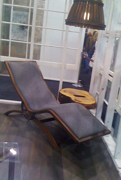 "The Brothers Dressler's ""Back to the Drafting Board Chaise Longue"" featured at the Interior Design Show (IDS) 2011, Toronto."
