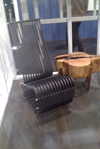 Another coveted chair (Onedge Rocker) by Brothers Dressler at the Interior Design Show (IDS) 2011, Toronto.