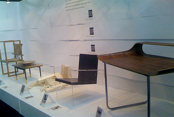 Chairs By OCAD Students At The Interior Design Show IDS 2011 Student Section