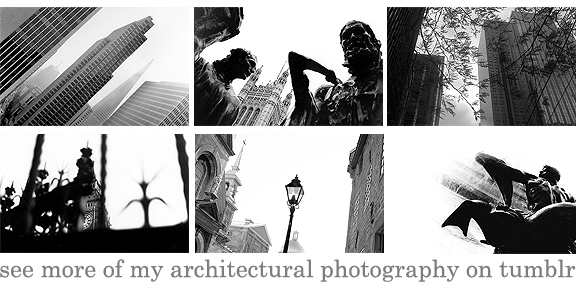 More images of architecture by Leah Snyder at leahsnyder.tumblr.com