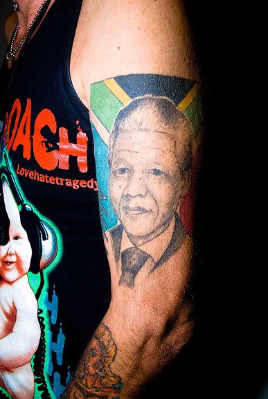 Mandela Tattoo. Image by Scott P. Smith.
