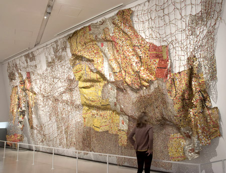 """""""Straying Continents"""" by El Anatsui"""