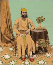 """Maharaja Fateh Singh"", Chaaganlal Gaur, Opaque watercolour on paper, Rajasthan, India. Image via www.rom.on.ca."
