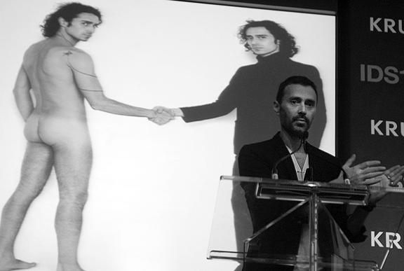 Italian designer Fabio Novembre at IDS 2012. Photo by Leah Snyder.